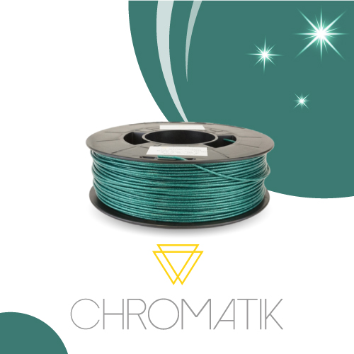 Filament Chromatik PLA 1.75mm - Glitter Green