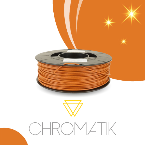 Filament Chromatik PLA 1.75mm - Orange d'Automne Pailleté (750g)